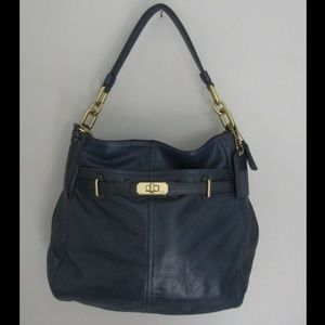 Coach Navy Ashlyn Chelsea Leather Hobo Bag